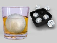 Preserve a pour of fine Scotch for longer sipping with these ice balls designed to melt slowly. They'll do for mixed drinks as well. Home-Complete Ice Ball Maker Mold, about $9 for a four-ball tray; Amazon