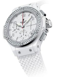 Women watches:  white Hublot Big Bang women's watch