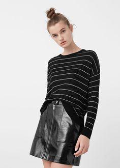 Striped rib sweater -  Woman | MANGO USA