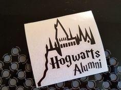 Harry Potter Hogwarts Alumni Decal Sticker Window Car