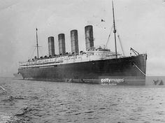 British liner the 'Lusitania', which was sunk off Kinsale on the Irish coast by a German U-boat in 1915.