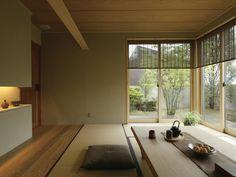 現代和風 和室 イメージ Modern Japanese Interior, Japanese Style House, Japanese Interior Design, Japanese Home Decor, Asian Home Decor, Minimalist Home Interior, Casa Milano, Zen Interiors, Tatami Room