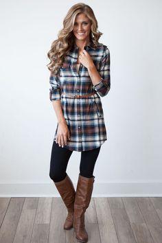 Never Out Of Fashion- Shirtdress | Twistnwraps