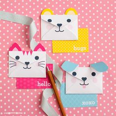 #Printable animal envelopes and cards at www.LiaGriffith.com