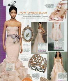How to wear blush.    #WeddingDress