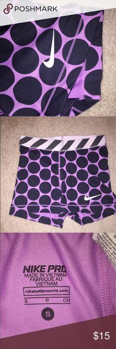 Nike pros Purple polka NEVER WORN Nike Shorts