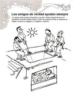 Jesús sana a un paralítico Lección para maestros  Pincha en la imagen para conocer la historia de cuatro amigos que sabían que Jesús estaba ...