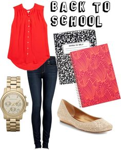 Copy this Back To School Outfit.Visit   J.Crew for the same style shirt, see Guess for the jeans, ALDO has the shoes and   a similar watch can be found at Kenneth Cole. - Outlets at Castle   Rock