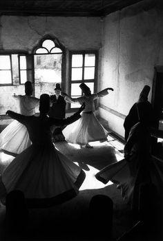 Sufi Dancer   black and white