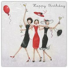 Happy Birthday Friends by Berni Parker Happy Birthday Pictures, Happy Birthday Messages, Happy Birthday Quotes, Happy Birthday Greetings, Friend Birthday, Birthday Fun, Happy B Day, Birthdays, Decoupage