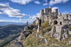 Rocca Calascio, Abruzzo - Most romantic small cities in Italy - A high fortress set in the Apennines in the Province of Acquila Rocca Calascio is astonishingly beautiful. If in town, visit Santa Maria della Pietà, an octagonal church built in the Century. The Places Youll Go, Great Places, Places To See, Wonderful Places, Beautiful Places, Italy Vacation Packages, Cities In Italy, Visit Santa, Living In Italy