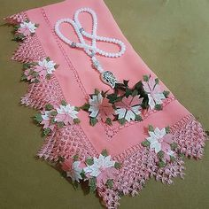 2019 The Most Beautiful Dowry Needle Laces Do Not Cross Without Looking Katmer Flower Writing Edge Needlework Lace - Wedding Dresses 2019 Best Brindal Wedding Dress Trends, Wedding Dresses, Cathedral Window Quilts, Pakistani Dress Design, Needle Lace, Baby Knitting Patterns, Knitting Needles, Scarf Styles, Hand Embroidery