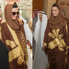 Sheikha Mozah never fails to deliver. Sheikha Mozah was in Kuwait. Sensational and classic.