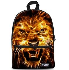 Girls Laptop School Bags for Teenagers Bookbags Backpack Canvas Lion Travel Rucksack Satchel >>> For more information, visit image link.