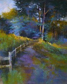 BARBARA BENEDETTI NEWTON PAINTINGS: Sunfall II, pastel painting