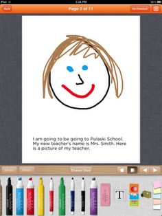 Writing Social Stories using Scribble Press for iPad: This would be a great activity for the kids to do on their iPad. They will get to use a drawing app that allows them to draw characters and make up their own stories. It'll be a great way to incorporate technology into the classroom, and give them a chance to work with it on their own.
