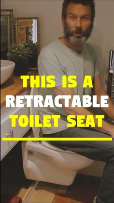 Now you can rotate the toilet seat into a shower wall or slide it under the stairs ! This unique retractable toilet seat is perfect for tiny houses RV life. The foldable toilet seat is called the 'hidealoo'. It collects the water from your Van Living, Tiny House Living, Tiny House Stairs, Toilet Tiles Design, Tiny House Plans, Tiny House On Wheels, Best Tiny House, Wc Sitz, Van Home
