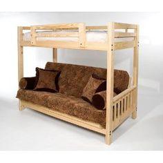 Queen Bed Over Futon Bunk