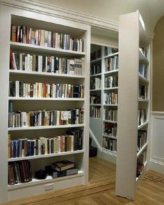 bookshelf door, secret rooms, passageways, hidden door