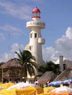 El Faro de playa del Carmen, Quintana Roo, México