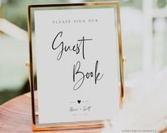 Wedding Guestbook Sign Template Minimalist Wedding Signage | Etsy