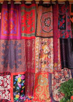 I LOVE THIS! ! obsessed folk boho gypsy (Diy Curtains Boho)