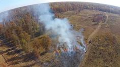Aerial Video of a controlled burn at Kitty Todd Nature Preserve in Swanton, Ohio.