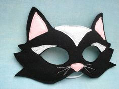 Black Cat Mask by herflyinghorses on Etsy