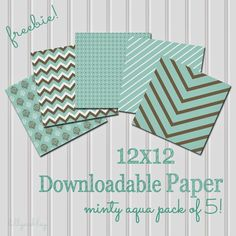 The Latest Find's Make It Create - DIY, Tutorials, Recipes, Digital Freebies: Friday Freebie...Minty Aqua Papers in Chevron, Polka Dots, Etc!