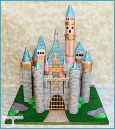 My Fave Sleeping Beauty's Castle Cake Ever - by Cuteology Cakes on CakesDecor - http://cakesdecor.com/cakes/114171-sleeping-beauty-s-castle
