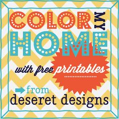 Free Printables to help add a punch of color to your home!!  #free #printables #color #diy #home #homedecor