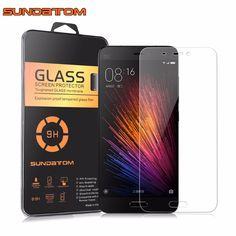 Xiaomi 5 m5 mi4c mimax película de vidrio protector de pantalla 9 h ultra thin sundatom premium real vidrio templado para xiaomi mi5 mi4 mi Max