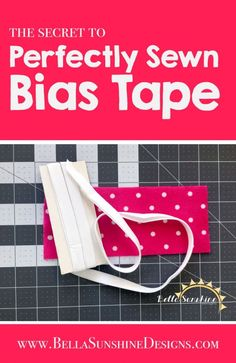 The Secret to Perfectly Sewn Bias Tape - This tutorial is super easy to follow! I can't wait to try it out next time I sew something with bias trim. Pin for later!
