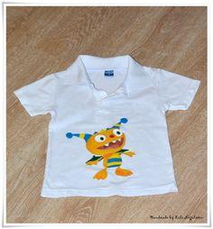 Tricouri pictate pentru copii/ Painted T-Shirts for Kids. - HENRY HUGGLEMONSTER -