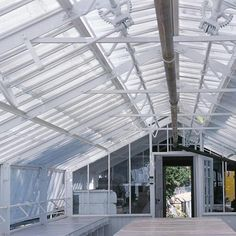 """One of the many restoration projects at the Hearst Castle was the rehabilitation of the historic estate's two 1930s greenhouse structures. These Lord & Burnham steel """"kits"""" were shipped from New York to San Simeon for the purpose of propagating plantings for Hearst's formal gardens."""