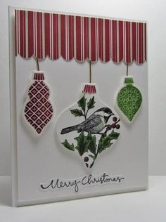 FS295 Christmas Ornaments by nancy littrell - Cards and Paper Crafts at Splitcoaststampers