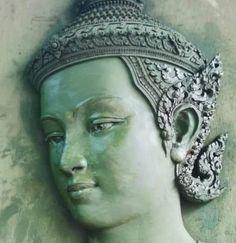Sculpture Art, Sculptures, Cambodian Art, Hindu Statues, Thai Art, Goddess Art, Thai Style, Hindu Art, Vintage Photographs
