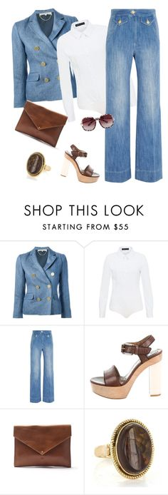 """""""outfit3759"""" by natalyag ❤ liked on Polyvore featuring Vanessa Bruno, Hallhuber, Étoile Isabel Marant, Marni, Marie Turnor and Boohoo"""