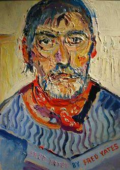 Fred Yates by Fred Yates (Self-Portrait) - Fred Yates -Naïve Art (Primitivism) Famous Self Portraits, Muse Kunst, Selfies, Muse Art, Portrait Photo, Portrait Art, Art Database, Naive Art, Outsider Art
