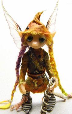 Ooak Handmade Polymer Clay Woodland Fairy by Woodlandkreatures, $42.00