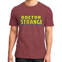 Dr. Strange Logo District T-Shirt (on man)