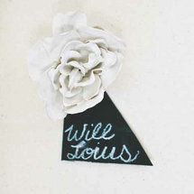 DIY: Plaster Flower Escort Cards - DIY: Plaster Flower Escort Cards