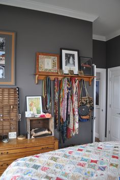 Paint colors that match this Apartment Therapy photo: SW 2803 Rookwood Terra Cotta, SW 6061 Tanbark, SW 7069 Iron Ore, SW 7074 Software, SW 6254 Lazy Gray