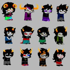 Reverse blood swap. High bloods go to low bloods. Although technically Karkat would be switched with Feferi. Maybe this was before we knew his blood color?