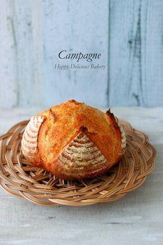 """しみじみ美味しいシンプルカンパーニュ♪ - はじめてでも簡単♪あいりおーの""""毎日つくりたくなる""""おうちパン レシピブログ -料理ブログのレシピ満載!"""