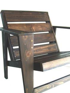 Adir Cedar Modern Adirondack Chair. $360.00, via Etsy.