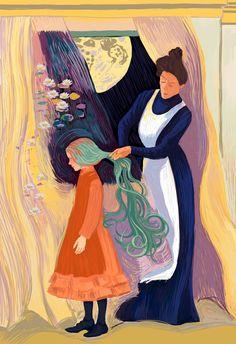 Anne of Green Gables on Behance - Art Kawaii 365, Gilbert And Anne, Anne White, Gilbert Blythe, Anne With An E, Anne Shirley, Fanart, Period Dramas, Cute Art