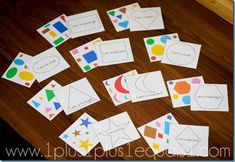 shape tracers - free printable