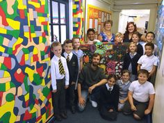 Mural at St. Anne's Primary School by Artist Michael Carlton St Anne, Primary School, 10 Years, Workshop, Creative, Artist, Upper Elementary, Atelier, Work Shop Garage