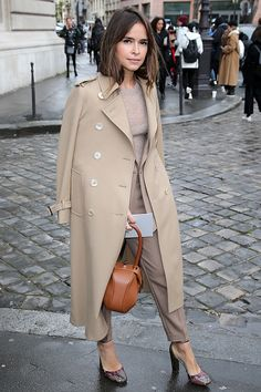 Miroslava Duma arrives at the Giambattista Valli show as part of the Paris Fashion Week Womenswear Fall/Winter 2016/2017 on March 7 2016 in Paris...